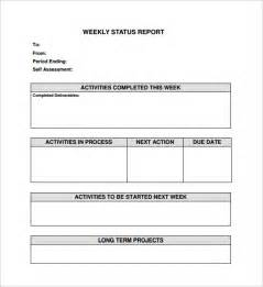 weekly report template weekly status report template 9 free documents