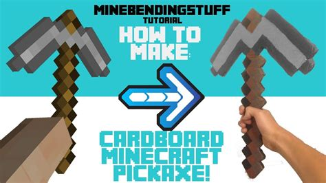 Origami Minecraft Pickaxe - how to make a cardboard minecraft pickaxe