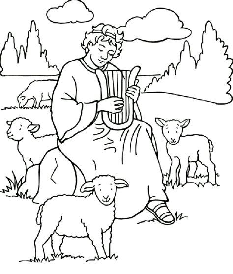 coloring page david becomes king david becomes king coloring page