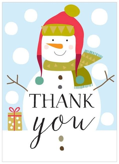 printable christmas present thank you cards pack of 8 snowman christmas thank you cards karenza paperie
