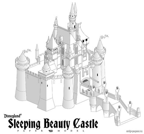 Sleeping Castle Papercraft - sleeping castle disney