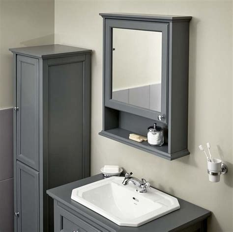 Gray Bathroom Mirror Savoy Charcoal Grey Cabinet Bathstore