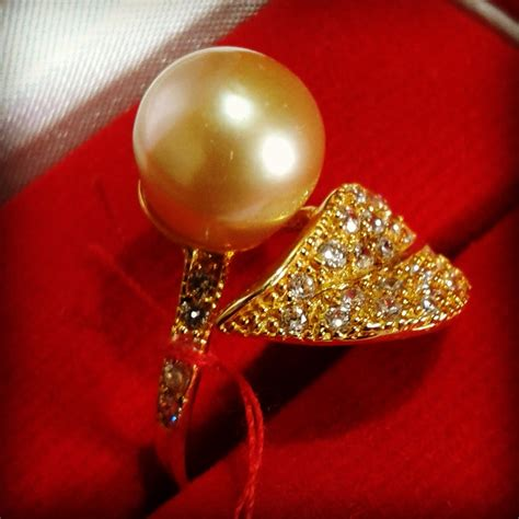 Cincin Mutiara Lombok Perhiasan Accessories 3 best cheap handmade gold pearl ring with golden south sea pearls cez 10 info harga perhiasan