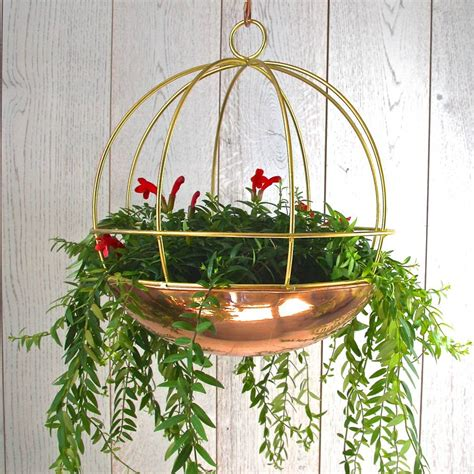 Copper Hanging Planter by Copper Globe Hanging Planter By Garden Trading