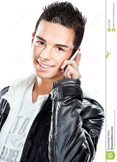 boys photo pretty boy talking mobile phone royalty free stock
