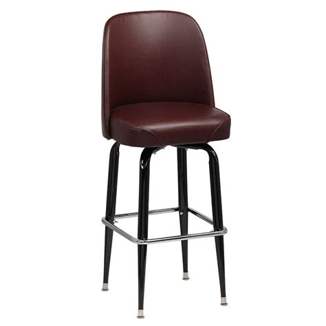 royal industries bar stools royal industries roy 7714 brn black square frame bar stool w brown vinyl bucket seat