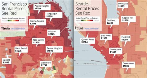 san francisco rental map rentals seattle s south lake union now more