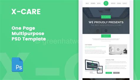 download one page multipurpose psd template free