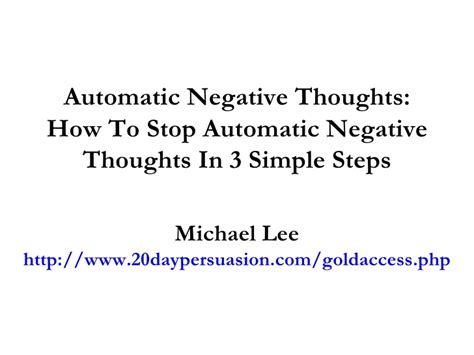 design your future 3 simple steps to stop drifting and start living books automatic negative thoughts how to stop automatic