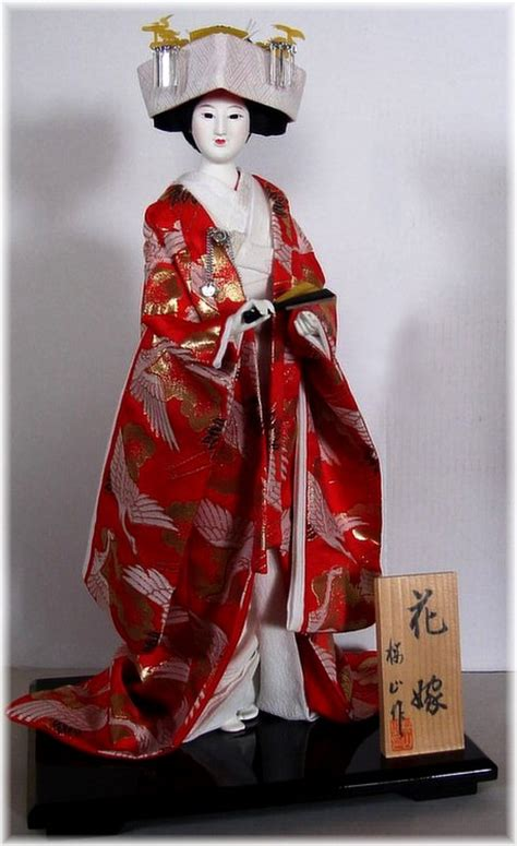 japanese wedding dolls japanese traditional doll in wedding kimono and with