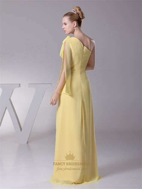 beaded one shoulder gown yellow chiffon one shoulder beaded embellished evening