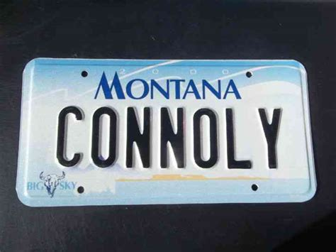 Ma Vanity Plate by Montana Vanity License Plate Connoly Connolly