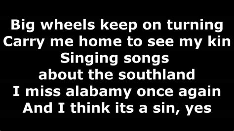 lynyrd skynyrd sweet home alabama lyrics in