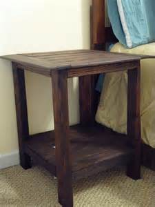 Diy Side Table by Ana White Tryed Side Table With Shelf Diy Projects