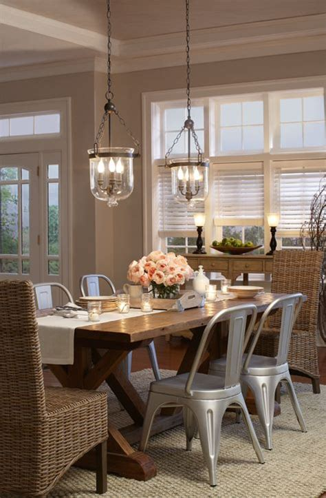 farmhouse dining lighting i love these quot galvanized steel quot looking chairs with this