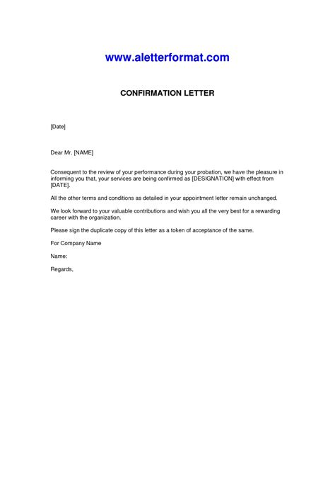 Confirmation Letter Business Confirmation Letter Sle The Best Letter Sle