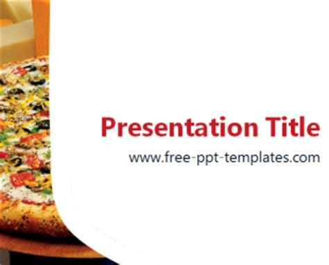 Pizza Ppt Template Free Powerpoint Templates Free Powerpoint Templates Food And Beverage