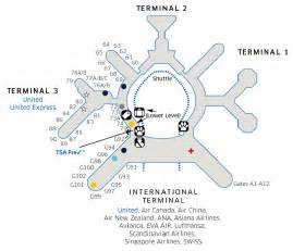 San Francisco International Airport Terminal Map by Sfo Airport Map Related Keywords Amp Suggestions Sfo