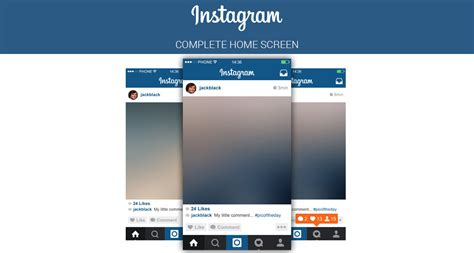 Design Your Own Home App free instagram home screen psd ui marinad
