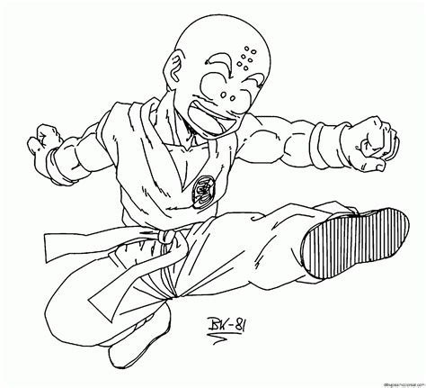 imagenes de krilin para dibujar faciles dibujos de krilin dragonball para colorear