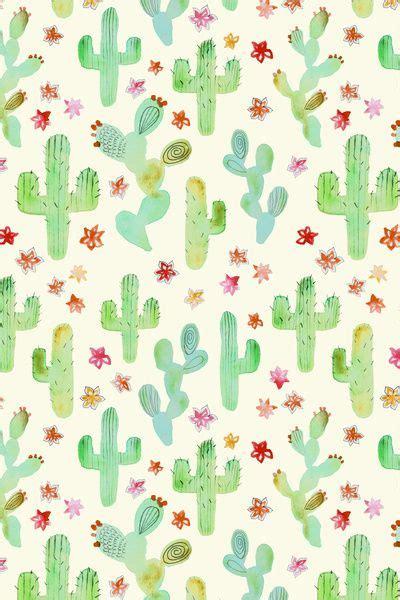 pastel cactus pattern watercolor cacti art print patterns cactus and phone