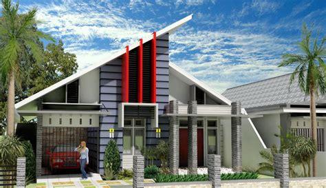 dapatkan  model rumah minimalis atap miring  inspirasi