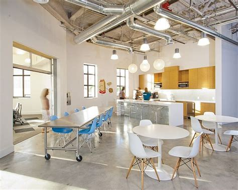 office kitchen seating area creative and interactive space for bgt partners headquarters