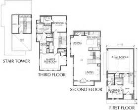 Rooftop Deck House Plans by 3 Story Townhome Floor Plan With Roof Deck