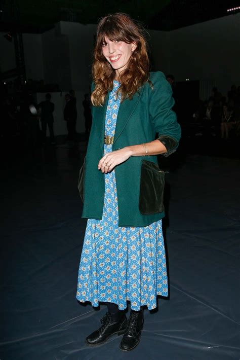 Maxi Blazer Flowery Gr90785 lou doillon giving 90 s vibes in a floral maxi boots and blazer