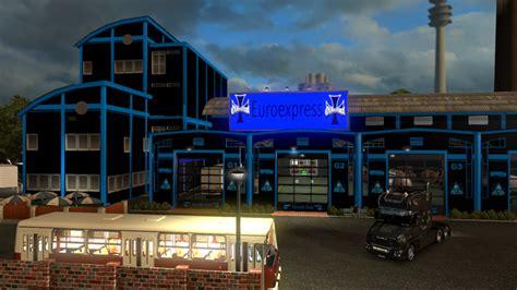 large garage large garage spt service ets2 version 1 22 xx ets 2 garage schwarz blau v 1 23 sonstige mod f 252 r
