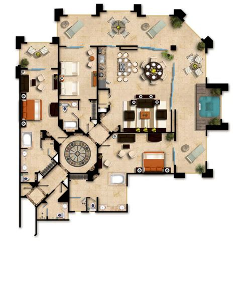 hotel del layout suite layouts garza blanca residence club