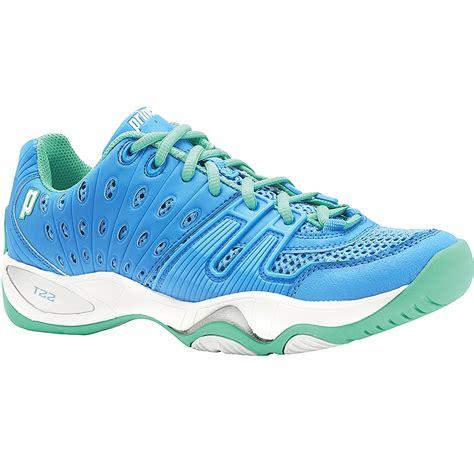 prince t22 s tennis shoe sky mint