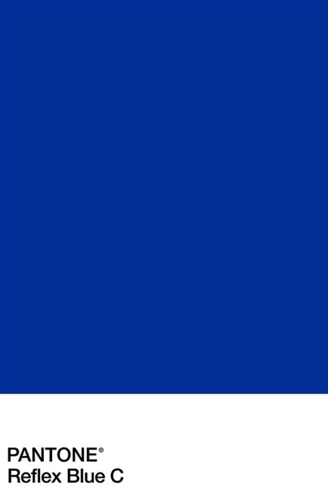 pantone c pantone reflex blue p a n t o n e pinterest blue