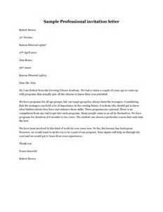 professional invitation letter sample