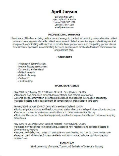 lpn resume template free resume for lpn resume ideas