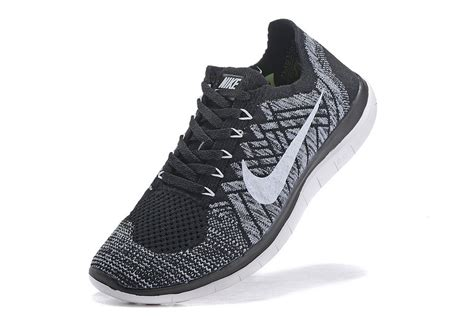 nike free 4 0 flyknit s shoes black white outlet