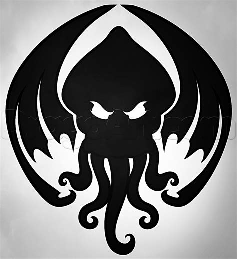 how to draw cthulhu cthulhu tattoo step by step