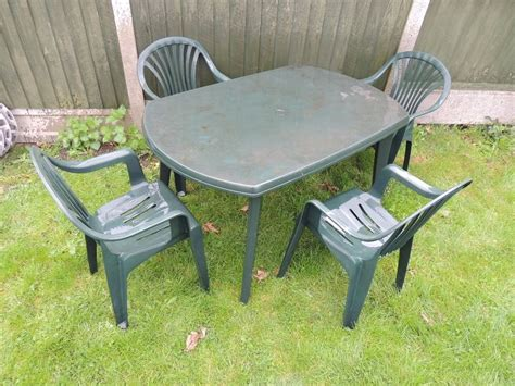 Outdoor Table Ls For Patio Patio Garden Furniture Set Large Plastic Table And 4