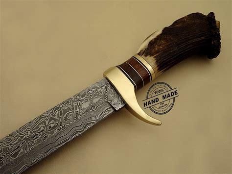 Best Handmade Knife - best damascus bowie knife custom handmade damascus steel