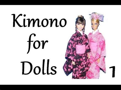 kimono pattern youtube how to make a kimono for dolls tutorial diy part 1 youtube