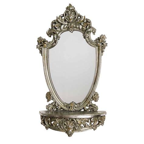 spiegel stil spiegel mit ablage 62cm konsole holz regal wandspiegel
