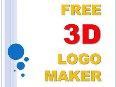 design a logo maker free 3d logo maker