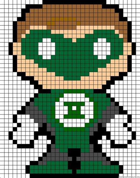 Green Lantern Lego Bracelet green lanterns perler bead patterns and bead patterns on