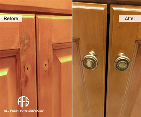 Kitchen Cabinet Finish Repair by Gallery Before After Pictures All Furniture Services