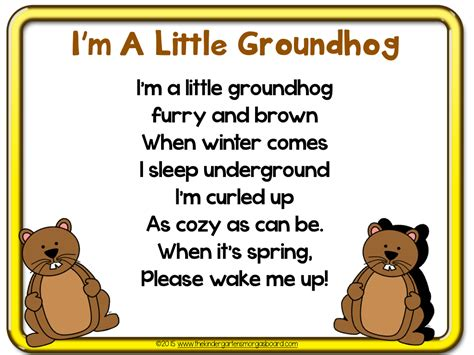 groundhog day poem the kindergarten smorgasboard