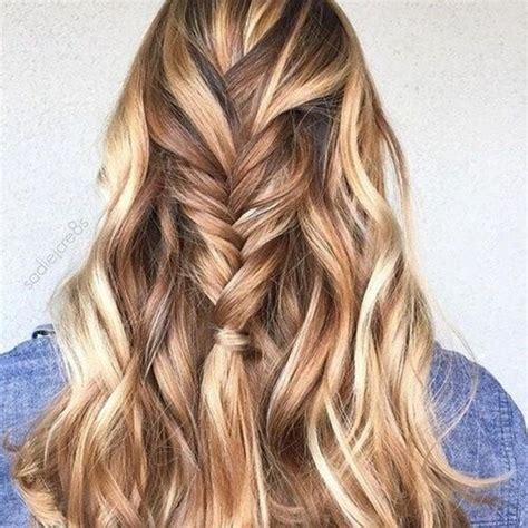 braune haare mit blonden straehnen und lowlights haareco