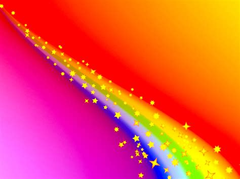 free rainbow line with stars backgrounds for powerpoint
