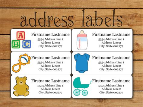 avery templates for baby shower items similar to baby address label sticker set avery