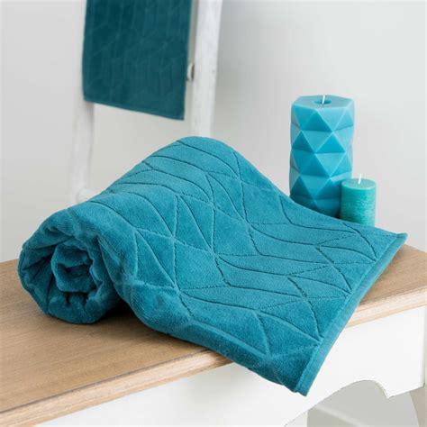 asciugamano da bagno asciugamano da bagno petrolio a motivi in cotone