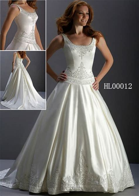 Tank Style Wedding Dresses by Tank Style Wedding Dress Dropped Waist Wedding Gown